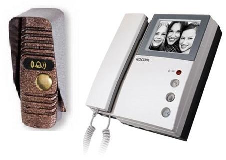 KVM-301/JSB-V05M комплект видеодомофона с вызывной панелью