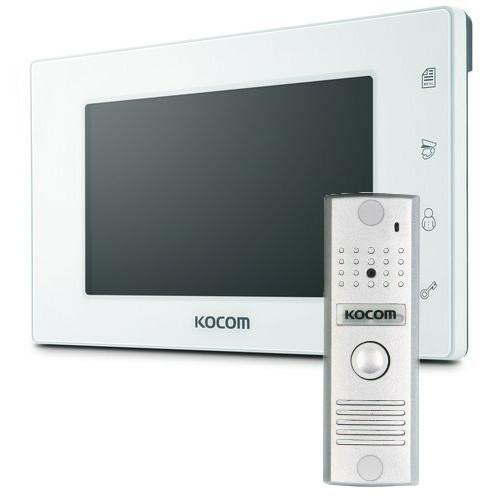 Видеодомофон в комплекте, Модель: KCV-544SD (белый)+KC-MC20 (серебро)