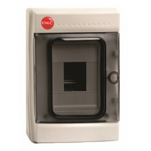 Щиток с дверцей 4 модуля, IP65, серый
