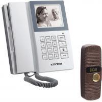 Готовые решения  (Комплекты) KVM-340/JSB-V05M (видеодомофон + телефон + вызывная панель)