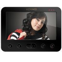 Цветной монитор видеодомофона без трубки (hands-free) KW-E706C-W200 черный