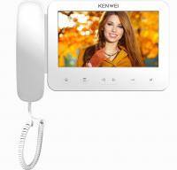 Цветной монитор видеодомофона с трубкой KW-E705FC-W200 белый
