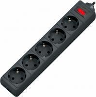 Сетевой фильтр Defender ES 3 3 м, черный, 5 розеток