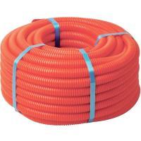 Гофротруба Гофрированная труба ПНД D=40 оранжевая, тяжелая