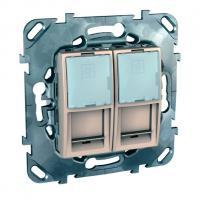 Розетки и выключатели Розетка компьютерная 2хRJ45 в рамку (MGU5.2020.25ZD)