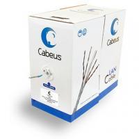Внутренняя экранированная витая пара Cabeus FTP-4P-Cat.6-SOLID-GY