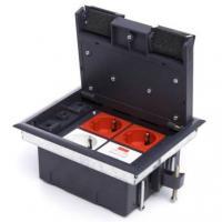 Люки встраиваемые LUK/4 Люк в пол на 4 поста (45х45 мм), с суппортом и коробкой 70140 стальной (70040)