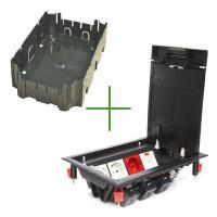 Люки встраиваемые LUK/8P Люк в пол на 8 постов с суппортом и коробкой (45х45мм) 70081+70160, пластик (70082)