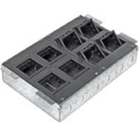 Люки встраиваемые LUK/8 Люк в пол на 8 постов с суппортом и коробкой (45х45мм) 70080+70180, сталь (70083)