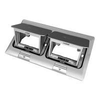 Люки встраиваемые LUK/2x2ST Люк в пол на 2x2 поста (45х45мм), в комплекте с коробкой и суппортом, сталь (70027)