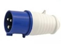 Розетки и выключатели Вилка прямая переносная 2Р+РЕ 32А 220В IP44 (87032)