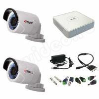 Комплекты видеонаблюдения Комплект 2-2 Full HD HiWatch видеонаблюдения на 2 камеры