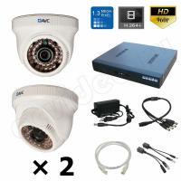 Комплект видеонаблюдения Комплект IP 2-1 HD PRO видеонаблюдения 1.3 Mpx на 2 камеры