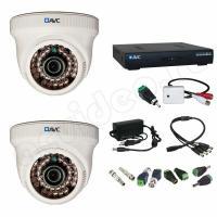 Комплект видеонаблюдения Комплект 2-1-1 HD видеонаблюдения с микрофоном на 2 камеры