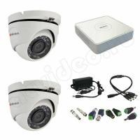 Комплекты видеонаблюдения Комплект 2-20 Full HD HiWatch видеонаблюдения на 2 камеры