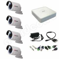 Комплект видеонаблюдения Комплект 4-2 Full HD HiWatch видеонаблюдения на 4 камеры