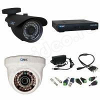Комплекты видеонаблюдения Комплект 2-3 Full HD видеонаблюдения на 2 камеры