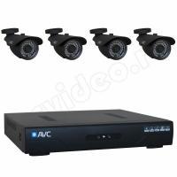 Комплект видеонаблюдения Комплект 4-2 HD New Level видеонаблюдения на 4 камеры