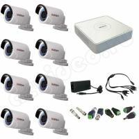 Комплект видеонаблюдения Комплект 8-2 Full HD HiWatch видеонаблюдения на 8 камер