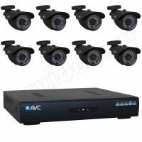Комплект видеонаблюдения Комплект 8-2 HD New Level видеонаблюдения на 8 камер