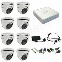 Комплект видеонаблюдения Комплект 8-20 Full HD HiWatch видеонаблюдения на 8 камер