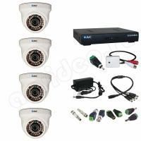Комплект видеонаблюдения Комплект 4-1-1 HD видеонаблюдения с микрофоном на 4 камеры