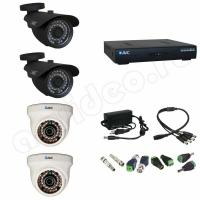 Комплект видеонаблюдения Комплект 4-3 HD видеонаблюдения на 4 камеры