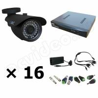Комплекты видеонаблюдения Комплект 16-2 HD видеонаблюдения на 16 камер