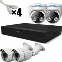 """Комплект видеонаблюдения Комплект видеонаблюдения IP """"Улица+Дом"""" на 4 камеры"""