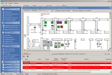 Оборудование ИСО «Орион» в разделе «Управление устройствами и мнемосхемой»